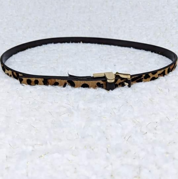 Michael Kors Accessories - Michael Kors Leather Calf Hair Animal Print Belt